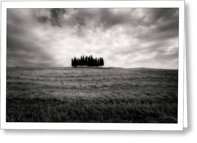 Chianti Digital Art Greeting Cards - Tuscany - Italy - Black and White Greeting Card by Marco Hietberg