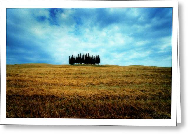 Ocre Greeting Cards - Tuscany - Italy Greeting Card by Marco Hietberg