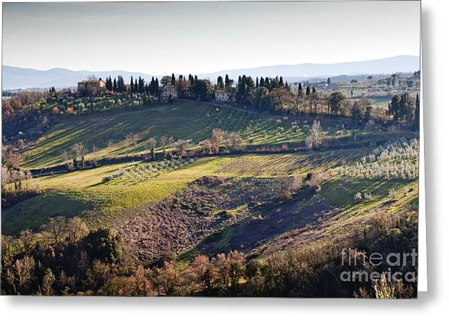 Tuscan Sunset Greeting Cards - Tuscany Greeting Card by Andre Goncalves