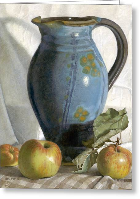 Pottery Pitcher Paintings Greeting Cards - Tuscany Greeting Card by Duane Wolford