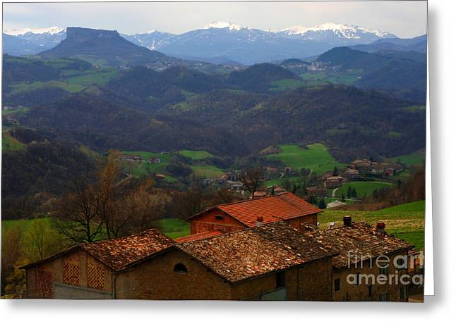 Landscapes Of Tuscany Greeting Cards - Tuscany Landscape 1 Greeting Card by Bob Christopher