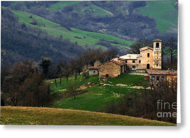 Landscapes Of Tuscany Greeting Cards - Tuscany Landscape 4 Greeting Card by Bob Christopher