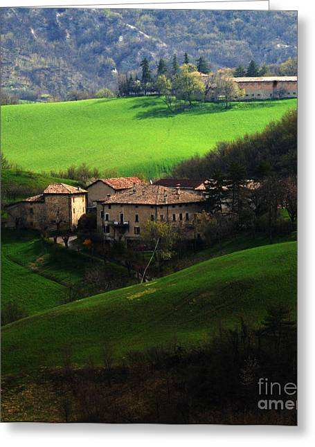 Landscapes Of Tuscany Greeting Cards - Tuscany Landscape 5 Greeting Card by Bob Christopher