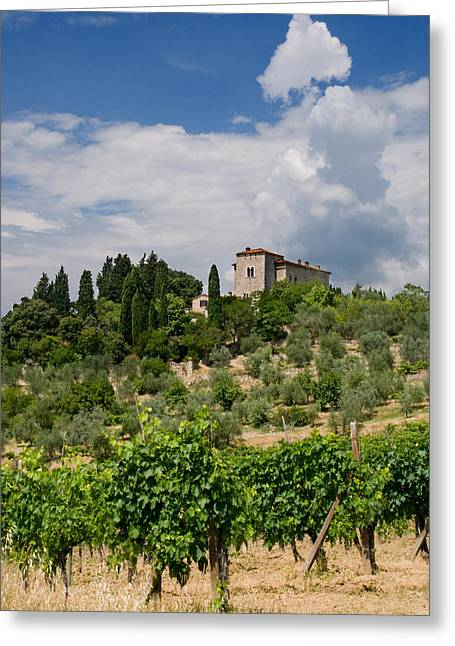 Chianti Greeting Cards - Tuscany Villa in Tuscany Italy Greeting Card by Ulrich Schade
