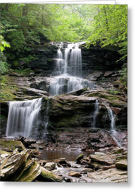Tuscarora Greeting Cards - Tuscarora Falls Greeting Card by Derek  Burke