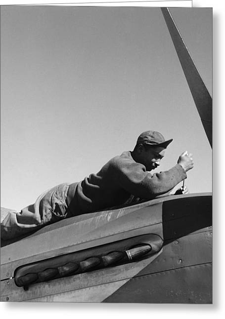 Marcelli Greeting Cards - Tuskegee Airman, 1945 Greeting Card by Granger