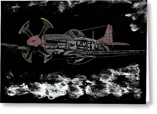 Tuskegee Night Flight Greeting Card by Jim Ross