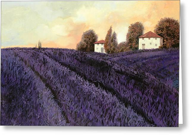 Lavender Greeting Cards - Tutta lavanda Greeting Card by Guido Borelli