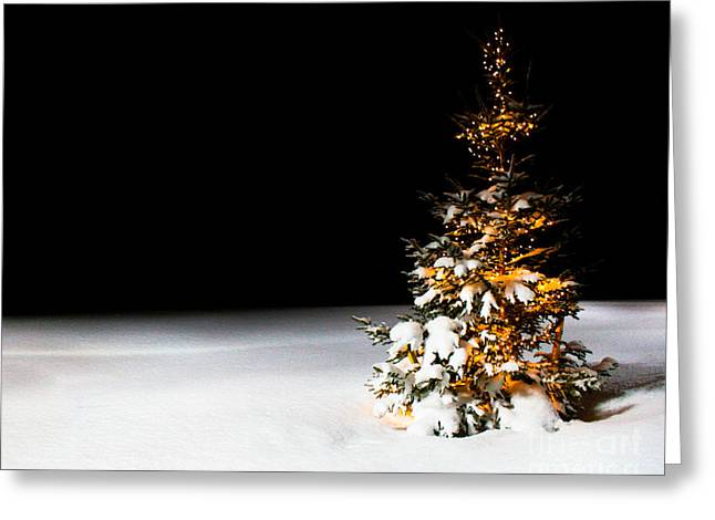 Winter Night Greeting Cards - Twas the night before christmas Greeting Card by Ken Marsh