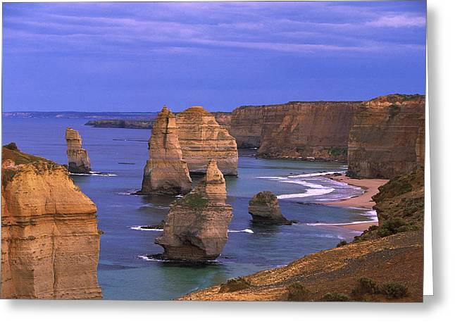 Recently Sold -  - Sea Animals Greeting Cards - Twelve Apostles Limestone Cliffs, Port Greeting Card by Konrad Wothe