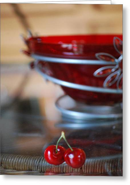 Interior Still Life Photographs Greeting Cards - Twice as Nice vertical Greeting Card by Peter  McIntosh