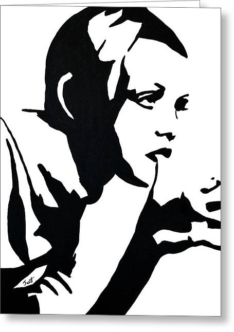 Best Sellers -  - Twiggy Greeting Cards - Twiggy Greeting Card by Jett Vivere