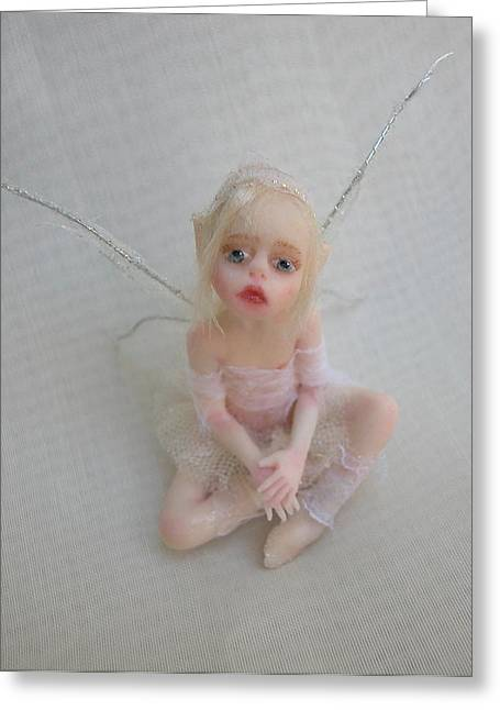 Twiggy Greeting Cards - Twiggy Mae Fairy Greeting Card by Deborah  Gouldthorpe
