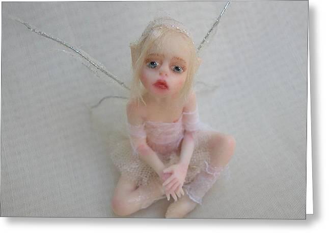 Twiggy Mae Fairy Greeting Card by Deborah  Gouldthorpe