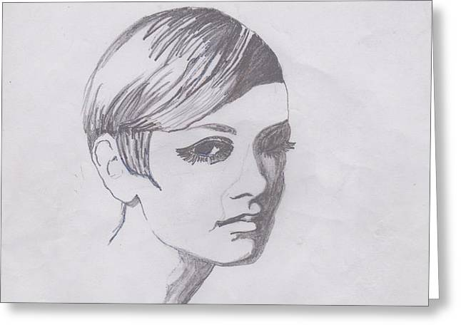 Twiggy Greeting Card by Marie Hough