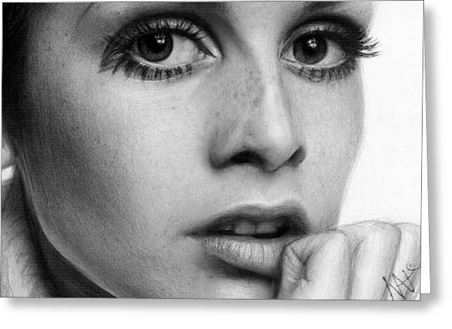 Twiggy Greeting Cards - Twiggy Greeting Card by Nat Morley