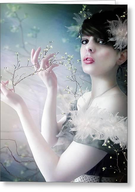 Berry Digital Art Greeting Cards - Twigs Greeting Card by Karen H