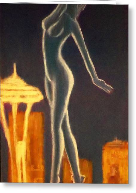 Seattle Pastels Greeting Cards - Twilight Dancer Greeting Card by D Rogale
