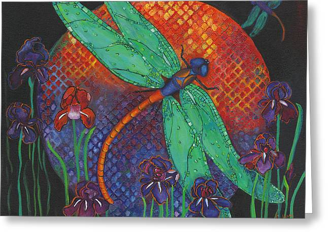 Dragonfly Picture Greeting Cards - Twilight Flight Greeting Card by Debbie McCulley