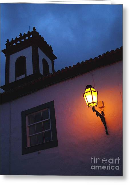 Night Lamp Greeting Cards - Twilight Greeting Card by Gaspar Avila