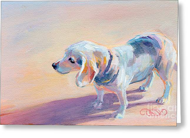 Beagle Greeting Cards - Twilight Greeting Card by Kimberly Santini