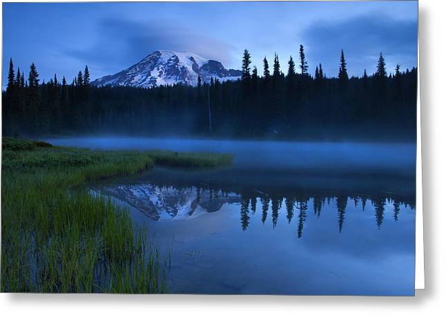 Mt Greeting Cards - Twilight Majesty Greeting Card by Mike  Dawson