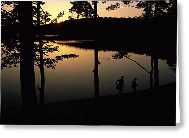 Walden Pond Greeting Cards - Twilight Over Walden Pond, Made Famous Greeting Card by Tim Laman