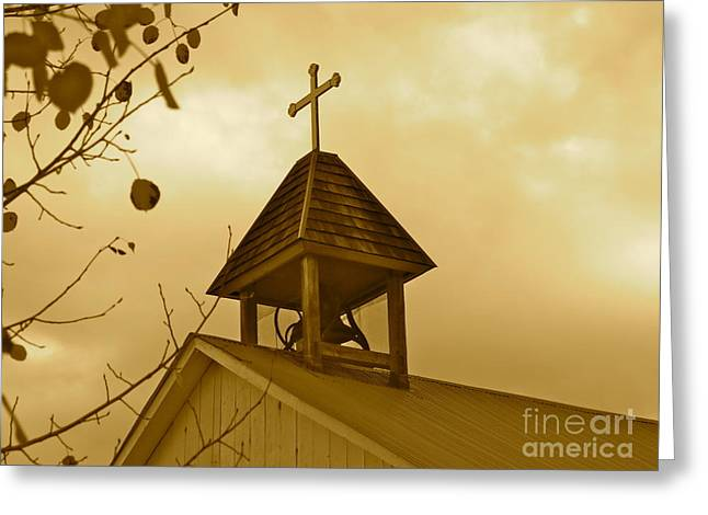 Toll House Greeting Cards - Twilight Silently Tolls Greeting Card by Aimee Mouw