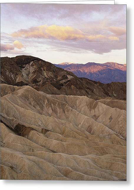 Park Scene Greeting Cards - Twilight View From Zabriskie Point Greeting Card by Phil Schermeister