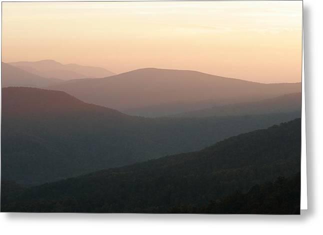 Park Scene Greeting Cards - Twilight View Of Blue Ridge Range Greeting Card by Charles Kogod