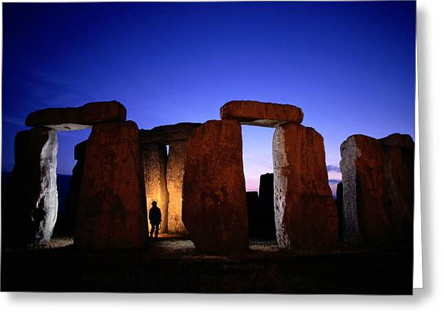 Large Scale Greeting Cards - Twilight View Of The Ruins Greeting Card by Richard Nowitz