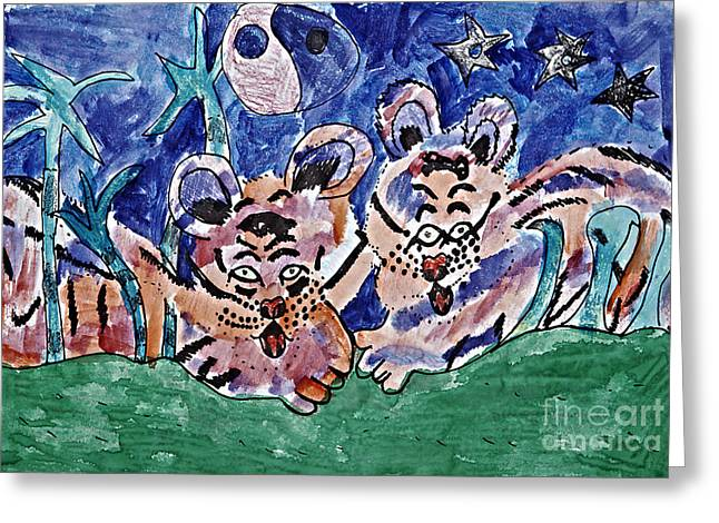 Ying Drawings Greeting Cards - Twin Cubs Greeting Card by Stephanie Ward