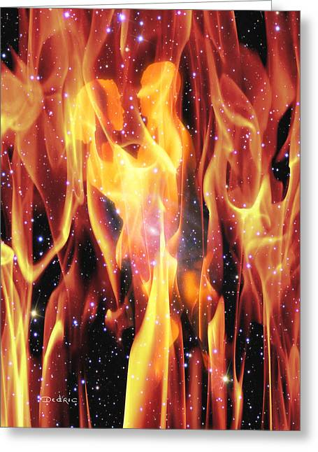 Yang Digital Art Greeting Cards - Twin Flames Greeting Card by Dedric Whittington