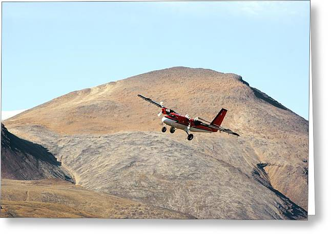 Axels Greeting Cards - Twin Otter Aircraft Landing Greeting Card by Dr Juerg Alean