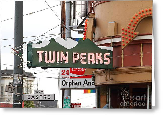 Eureka Valley Greeting Cards - Twin Peaks Gay Bar in San Francisco . 7D7603 Greeting Card by Wingsdomain Art and Photography