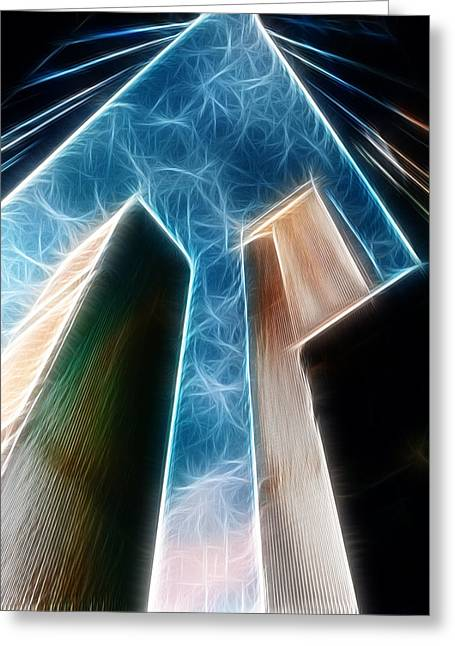 Fractalius Art Greeting Cards - Twin Towers Greeting Card by Paul Ward