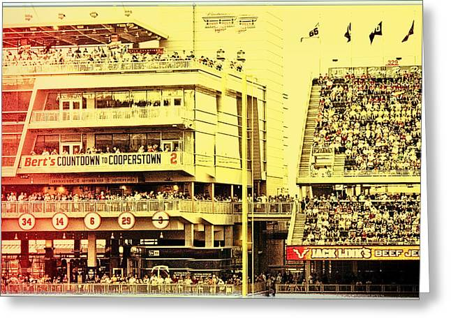 Target Field Greeting Cards - Twins Fans Countdown to Cooperstown Greeting Card by Susan Stone