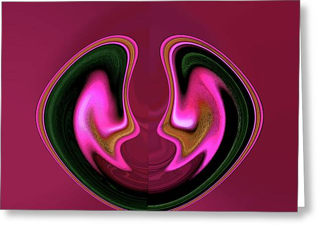 Reverence Digital Art Greeting Cards - Twins Greeting Card by Lenore Senior