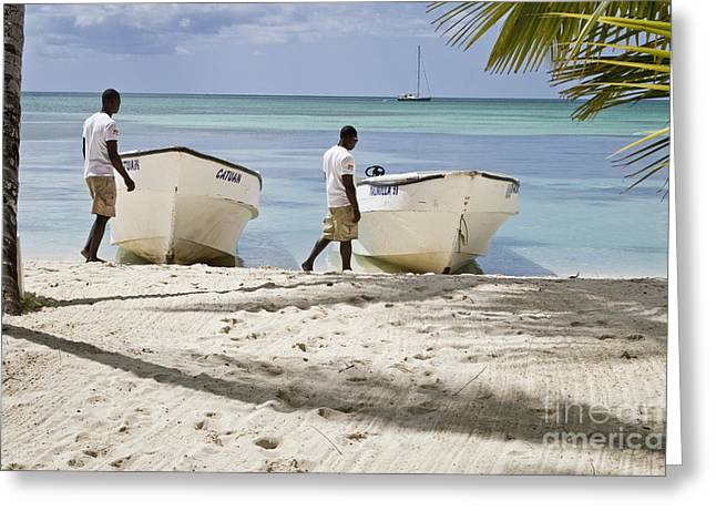 Bayahibe Greeting Cards - Twins Greeting Card by Nacho Miyashiro