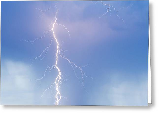 Twisted Lightning Strike Colorado Rocky Mountains Greeting Card by James BO  Insogna