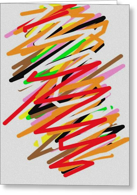 Icons Prints On Canvas Greeting Cards - Twister Greeting Card by J Burns