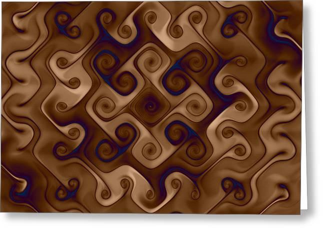 Mark Eggleston Greeting Cards - Twisting Curls Greeting Card by Mark Eggleston