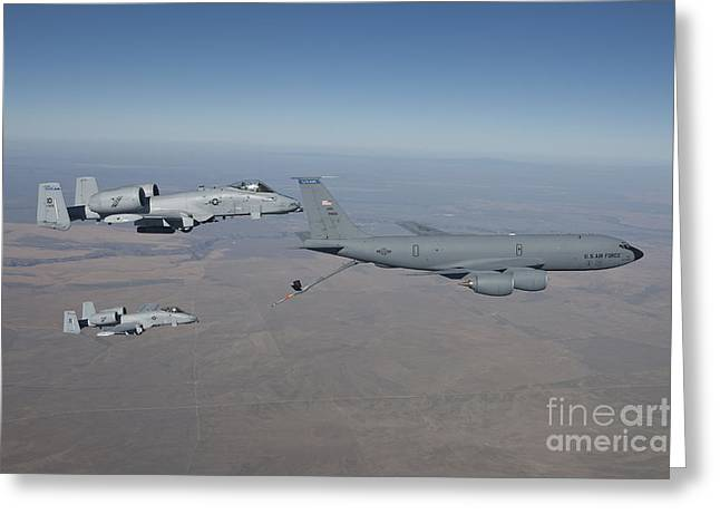 Cooperation Greeting Cards - Two A-10c Thunderbolts Prepare Greeting Card by HIGH-G Productions