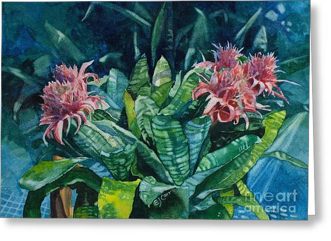 Elizabeth Carr Greeting Cards - Two Against Three Greeting Card by Elizabeth Carr