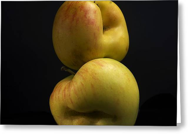 Entire Greeting Cards - Two apples Greeting Card by Bernard Jaubert