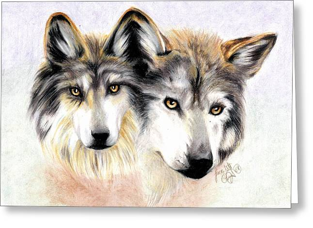 Two Become One Greeting Card by Scarlett Royal