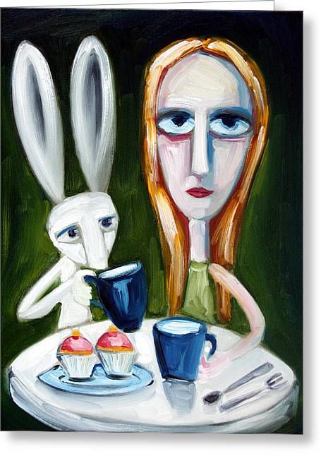 Drink Me Greeting Cards - Two Cup Cakes Greeting Card by Leanne Wilkes