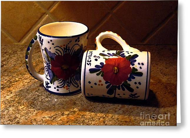 Two Cups Greeting Card by Dale   Ford
