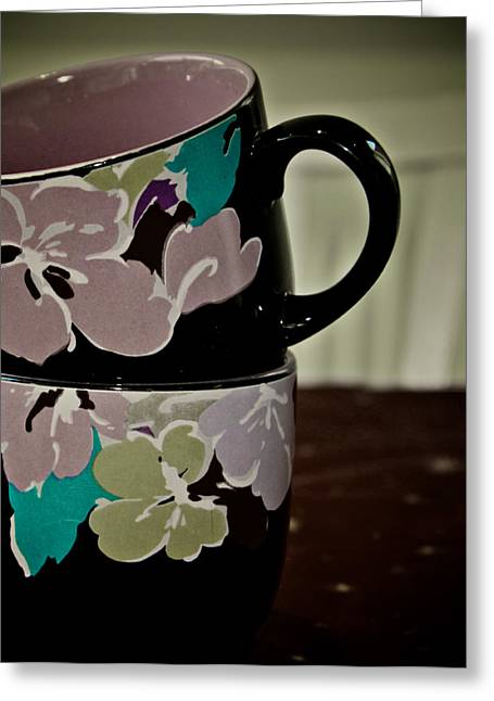 Two Coffee Cups Greeting Cards - Two Cups Greeting Card by Odd Jeppesen