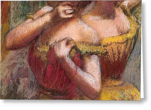 Two Dancers Greeting Card by Edgar Degas